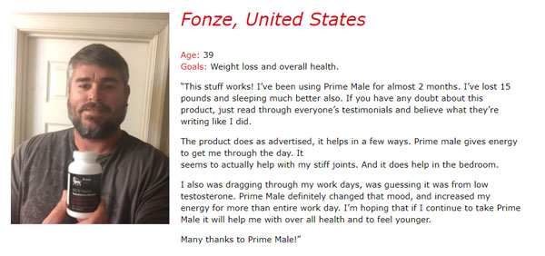Prime Male testosterone booster user feedback
