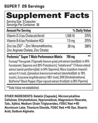 Super Male T formula